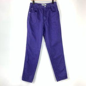 Vintage Gloria Vanderbilt Purple Rigid Jeans 27